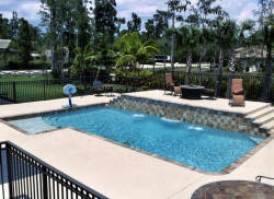 Products include Florida Gem, the Pearl Series, Florida Stucco Bond Kote, and the Designer Collection. Work by Prestige Pool Plastering - www.PrestigePoolPlastering.com